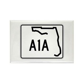 Route A1A, Florida Rectangle Magnet (100 pack)