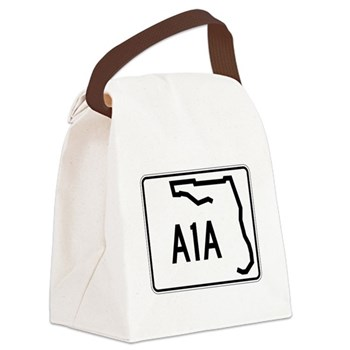 Route A1A, Florida Canvas Lunch Bag