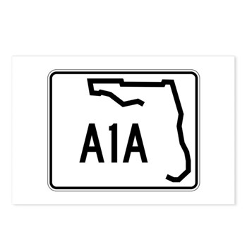 Route A1A, Florida Postcards (Package of 8)