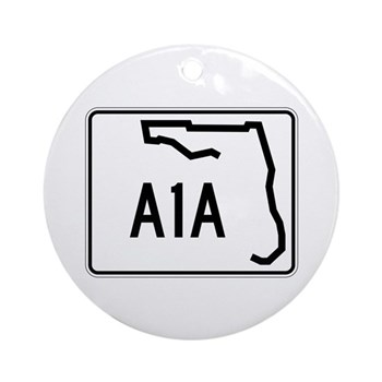 Route A1A, Florida Ornament (Round)