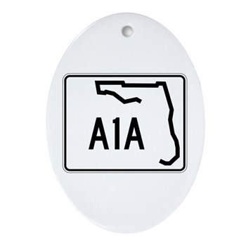 Route A1A, Florida Ornament (Oval)