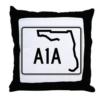Route A1A, Florida Throw Pillow