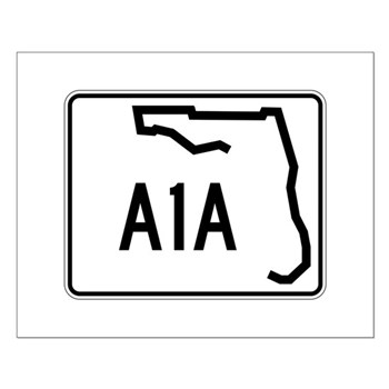 Route A1A, Florida Small Poster