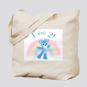 Rainbow Bear 2nd Birthday Boy Tote Bag