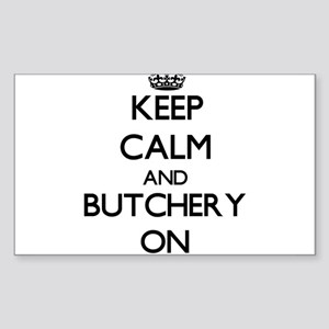 Keep Calm and Butchery ON Sticker