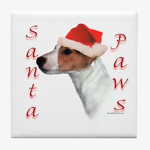 Santa Paws Jack Russell Tile Coaster