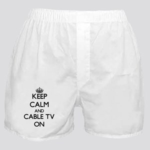Keep Calm and Cable TV ON Boxer Shorts