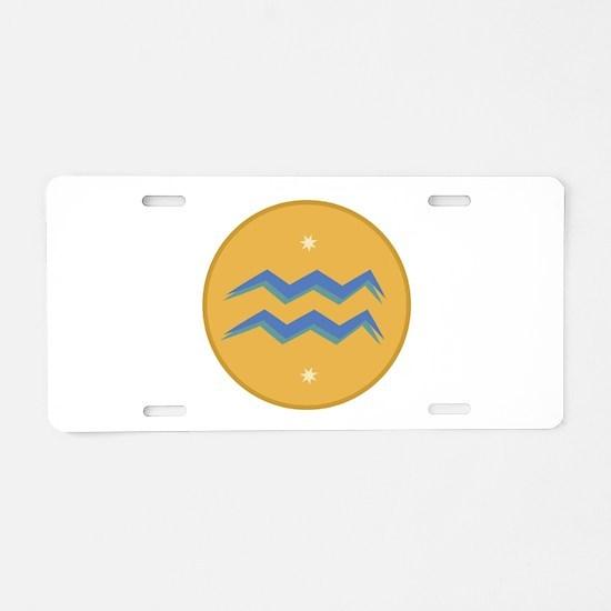 Aquarius Sign Aluminum License Plate