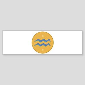 Aquarius Sign Bumper Sticker