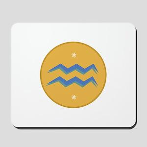 Aquarius Sign Mousepad
