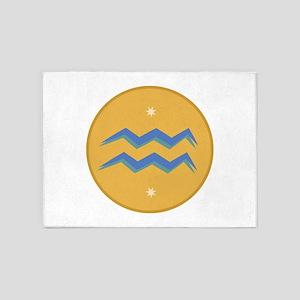 Aquarius Sign 5'x7'Area Rug