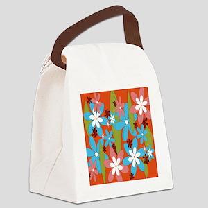 Hippie Flower Power Canvas Lunch Bag