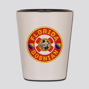 Florida Bosnian American Shot Glass