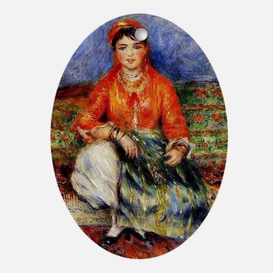 Renoir - Algerian Girl Oval Ornament