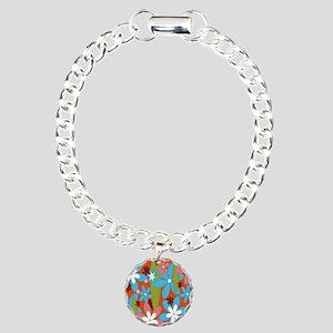 Hippie Flower Power Charm Bracelet, One Charm