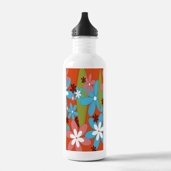 Hippie Flower Power Water Bottle