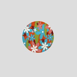 Hippie Flower Power Mini Button
