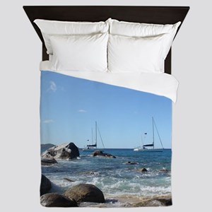 BVI Sailing Boats Queen Duvet