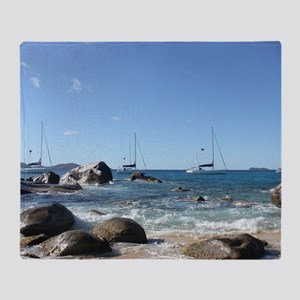 BVI Sailing Boats Throw Blanket