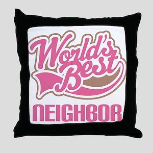 neighbor Throw Pillow