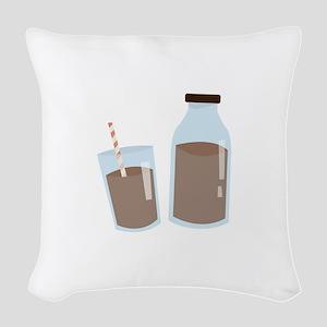 Chocolate Milk Woven Throw Pillow