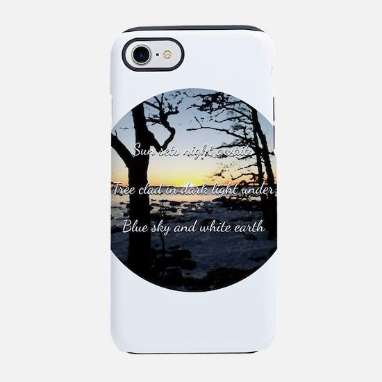 Sun sets night awaits iPhone 7 Tough Case