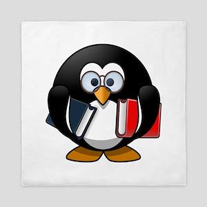 Smart Penguin Queen Duvet