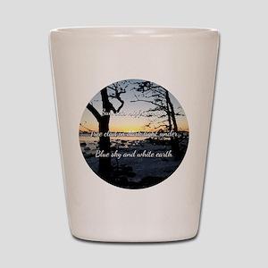 Sun sets night awaits Shot Glass
