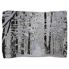 Winter Forest Path Pillow Sham