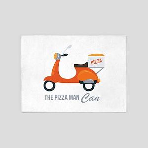 Pizza Man 5'x7'Area Rug
