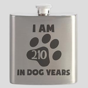 30th Birthday Dog Years Flask