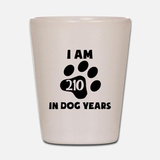 30th Birthday Dog Years Shot Glass