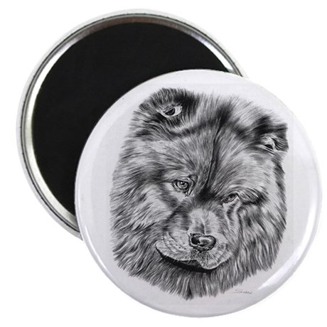 Chow Chow Pencil Drawing Magnet