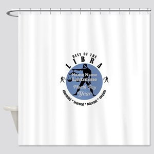 Custom Text Libra Horoscope Zodiac Sign Shower Cur
