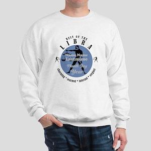 Custom Text Libra Horoscope Zodiac Sign Sweatshirt