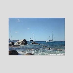 BVI Sailing Boats Magnets