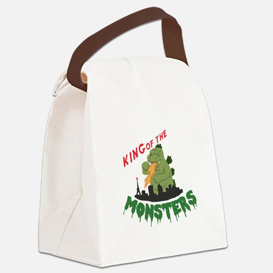 King of the Monsters Canvas Lunch Bag