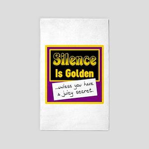 Silence Is Golden Area Rug