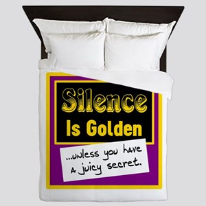 Silence Is Golden Queen Duvet