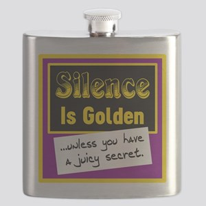 Silence Is Golden Flask