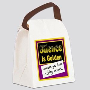 Silence Is Golden Canvas Lunch Bag