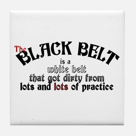 The Black Belt Is Tile Coaster
