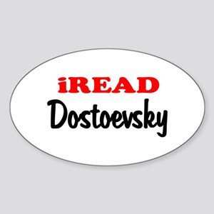 iREAD Dostoevsky Oval Sticker