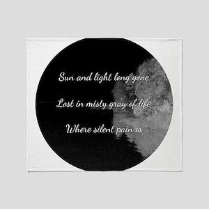 Sun and light long gone Throw Blanket