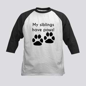 My Siblings Have Paws Baseball Jersey