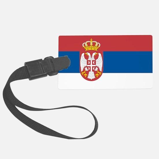Serbian flag Luggage Tag