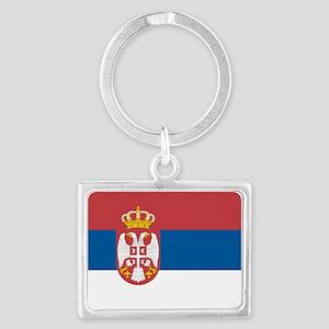 Serbian flag Landscape Keychain