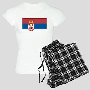 Serbian flag Women's Light Pajamas