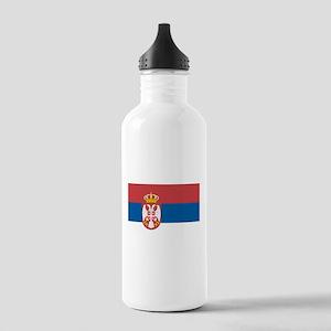 Serbian flag Stainless Water Bottle 1.0L