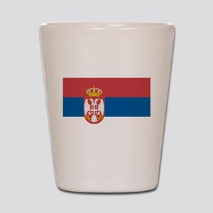 Serbian flag Shot Glass